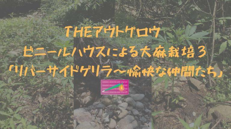 THEアウトグロウ ビニールハウスによる大麻栽培 3「リバーサイドゲリラ〜愉快な仲間たち」